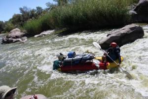 Dolfin Rapid on Orange River rafting trip